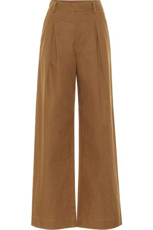 Staud Bruco high-rise linen-blend pants