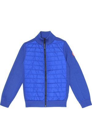 Canada Goose Hybridge wool and nylon down jacket