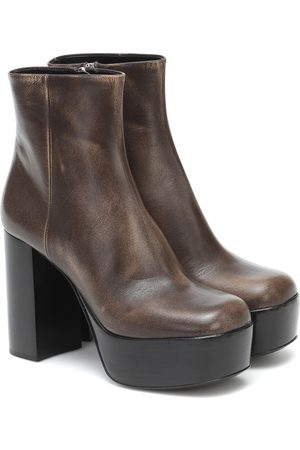 Miu Miu Platform 110 leather ankle boots