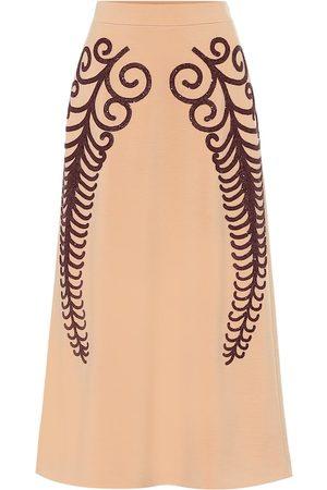 Prada Beaded wool pencil skirt