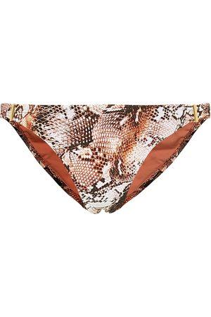 Melissa Odabash Exclusive to Mytheresa – Martinique snake-effect bikini bottoms