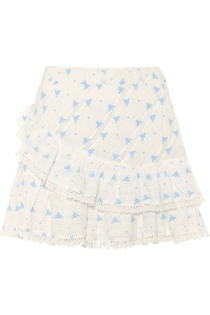 LOVESHACKFANCY Exclusive to Mytheresa – Emma floral cotton miniskirt