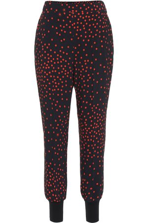 Stella McCartney Polka-dot stretch-crêpe skinny pants