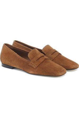 Khaite Carlisle suede loafers