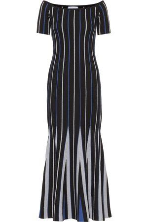 GABRIELA HEARST Medea striped wool maxi dress