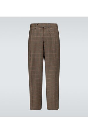 Rochas Carrot-fit checked pants