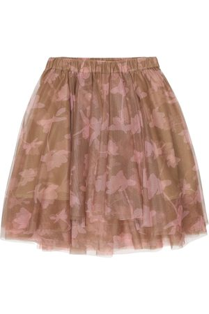 Brunello Cucinelli Printed tulle skirt