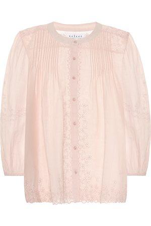 Velvet Catherine cotton-blend blouse