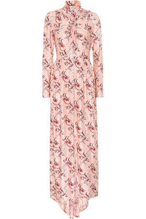 Paco rabanne Printed satin maxi dress