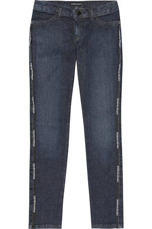 Emporio Armani Logo stretch-cotton jeans