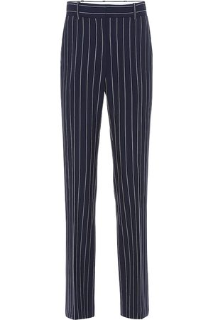 Chloé Striped high-rise slim pants