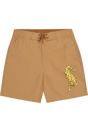 Mini Rodini Leopard swim shorts