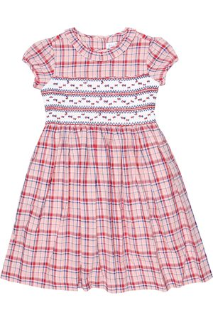 Rachel Riley Checked smocked cotton dress