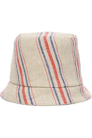 REJINA PYO Connor striped linen fedora