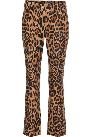 Paco rabanne Leopard-print wool pants