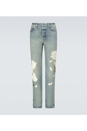 AMIRI Flower painted relaxed jeans
