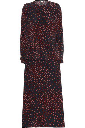 Stella McCartney Polka-dot silk-crêpe maxi dress