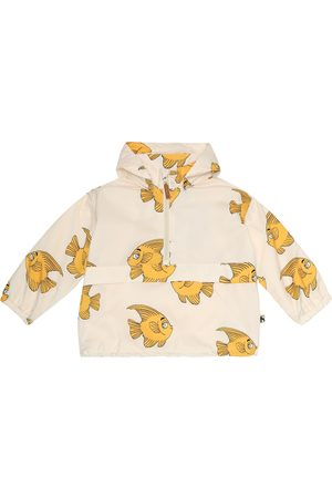 Mini Rodini Fish hooded rain jacket