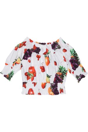 Msgm Printed cotton top