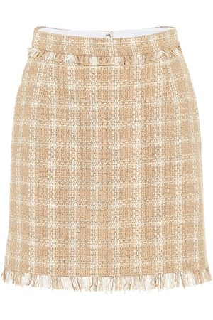 Msgm Cotton-blend tweed miniskirt