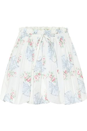 LOVESHACKFANCY Cheyenne floral cotton miniskirt