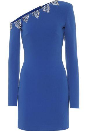 DAVID KOMA Exclusive to Mytheresa – Embellished cady one-shoulder minidress