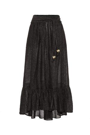 Lisa Marie Fernandez Nicole linen-blend gauze midi skirt