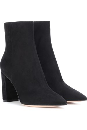 Gianvito Rossi Piper 85 suede ankle boots