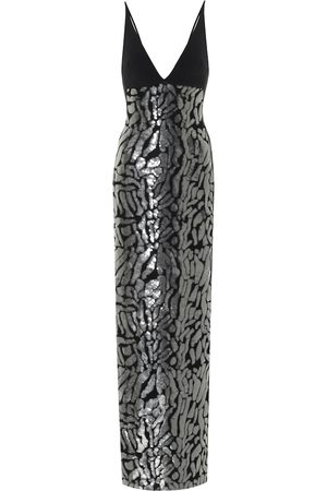 DAVID KOMA Exclusive to Mytheresa – Sequined crêpe gown