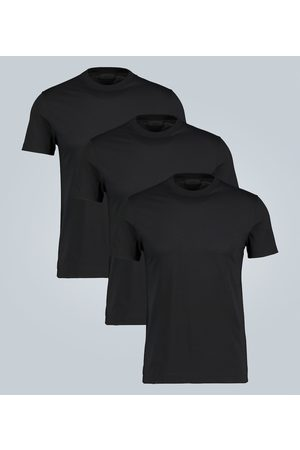 Prada Cotton jersey T-shirt three-pack