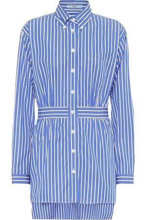 Prada Striped cotton-poplin shirt