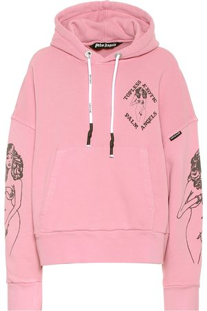 Palm Angels Printed cotton hoodie
