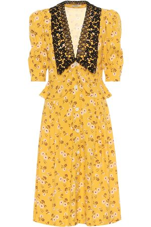 Miu Miu Floral crêpe shirtdress