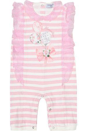 MONNALISA Baby striped cotton onesie