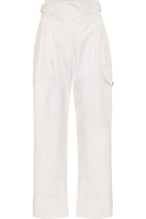 Chloé High-rise cotton cargo pants