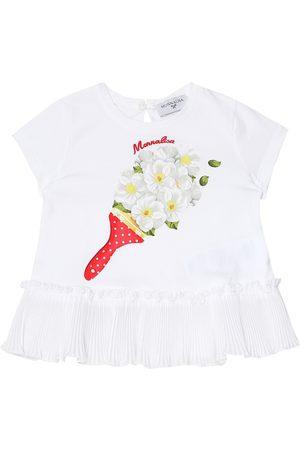 MONNALISA Baby printed stretch-cotton T-shirt