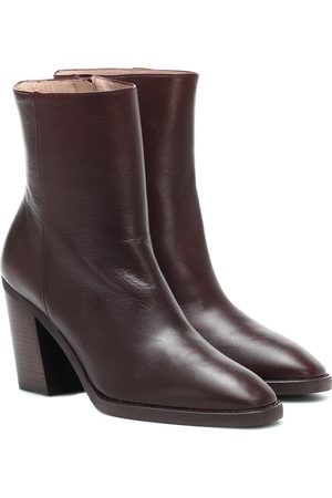 Stuart Weitzman Wynter 80 leather ankle boots