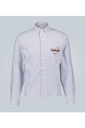 Prada Striped print shirt with logo