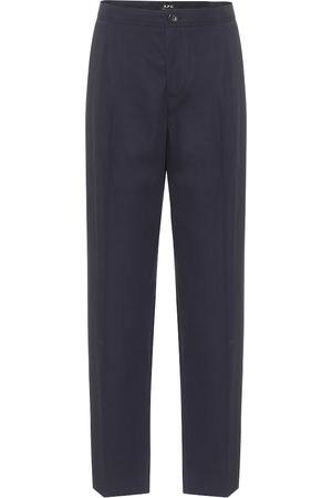 A.P.C Amalfi cotton-crêpe straight pants