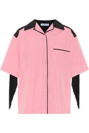 Prada Embellished cotton shirt