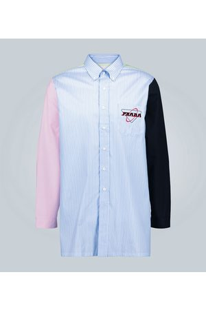 Prada Colorblocked striped shirt