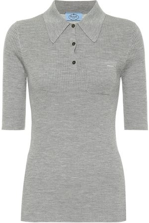 Prada Stretch-wool polo top