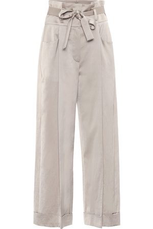 Brunello Cucinelli Exclusive to Mytheresa – Satin wide-leg pants