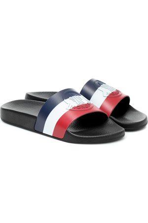 Moncler Jeanne striped rubber slides