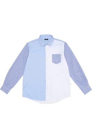 Il gufo Colorblocked cotton shirt