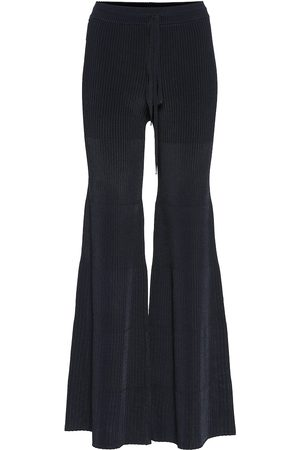 Peter Do High-rise knit flared pants