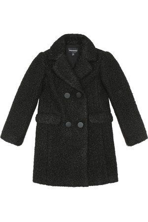 Emporio Armani Double-breasted teddy coat