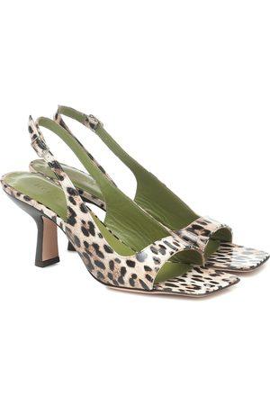 By Far Lopez leopard-print leather sandals