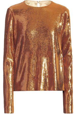 GALVAN Gilded Clara sequined top