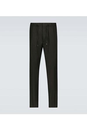 LARDINI Wool drawstring pants